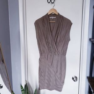 Rachel Roy Women's Size Medium Brown Draped Dress